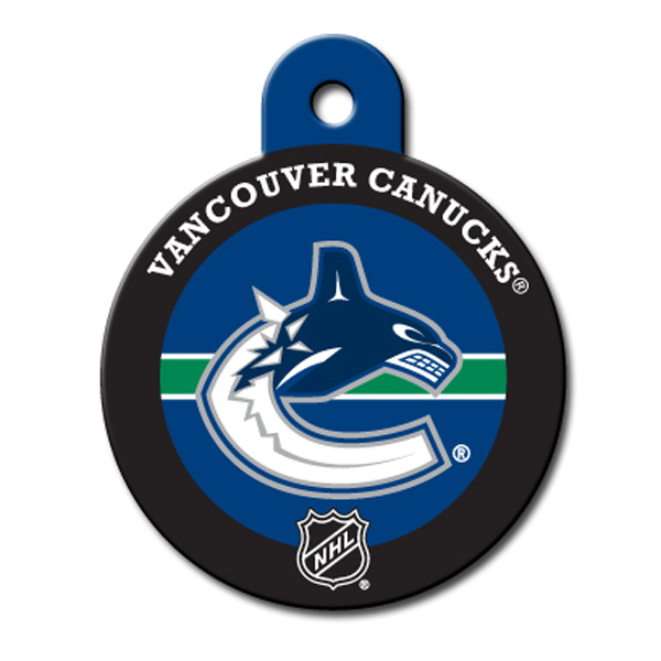Vancouver Canucks Engravable Pet I.D. Tag
