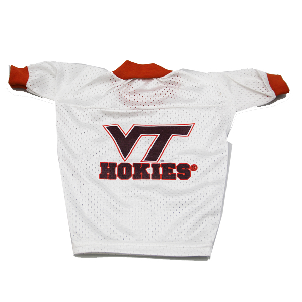 Virginia Tech Hokies Dog Jersey - VT Hokies on White