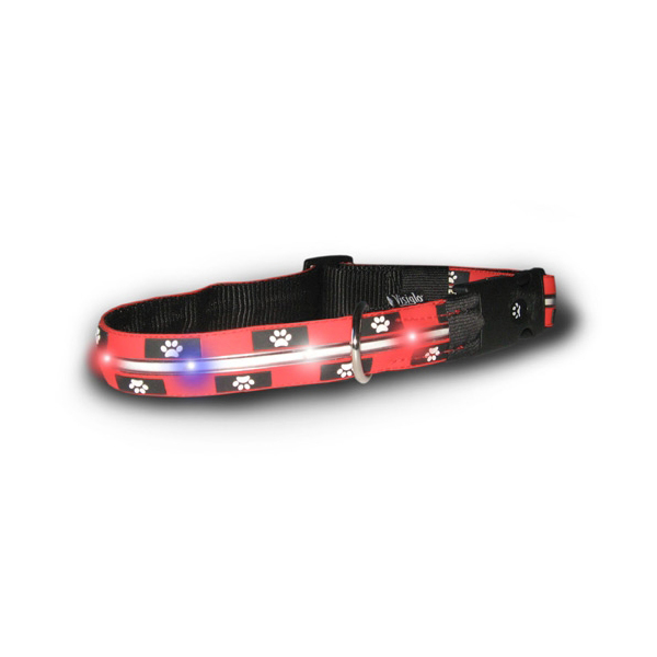 Visiglo Silicone Safety Dog Collar - Paw Print
