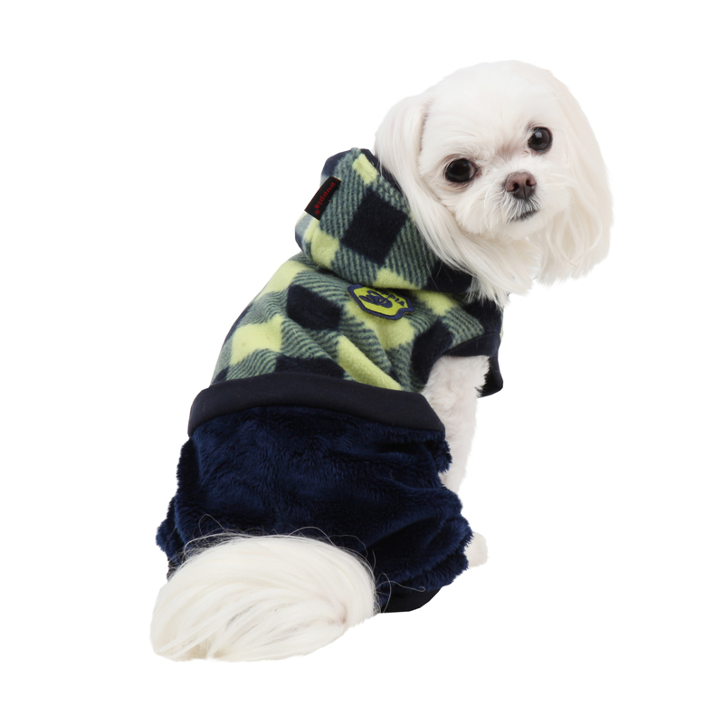 Waffle Dog Jumpsuit by Puppia - Navy