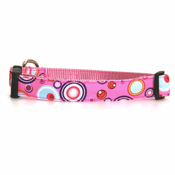 WaLk-e-Woo Martini Dog Collar - Pink