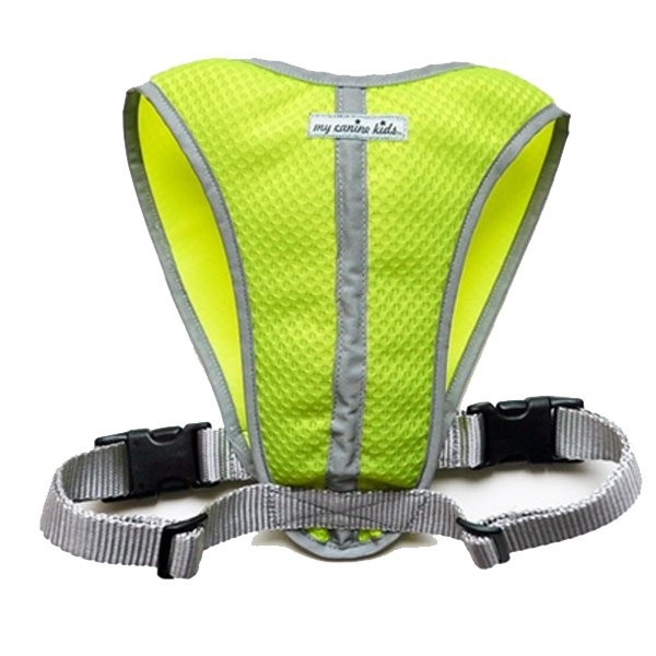Walk-Fit Mesh Large Dog Harness - Lime Green