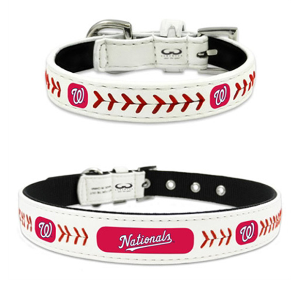 Washington Nationals Leather Dog Collar