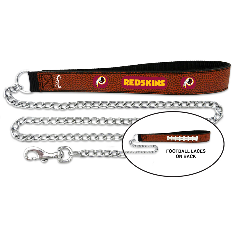 Washington Redskins Leather Dog Leash