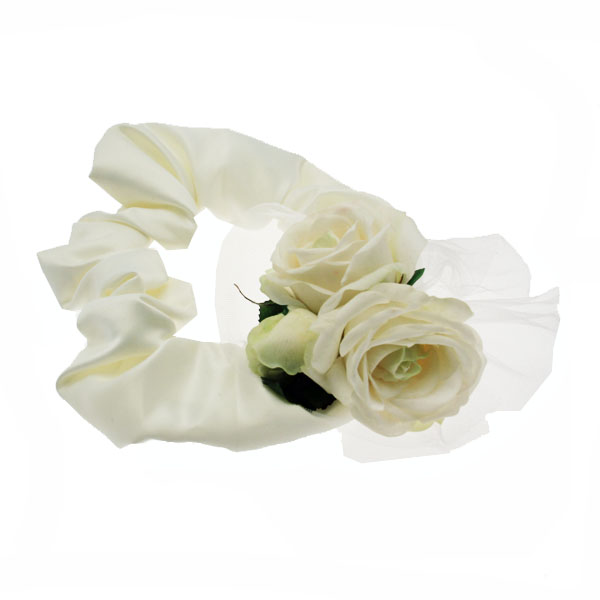 Up Country Wedding Collection - Cream Velvet Rose Ruffs Neckwear