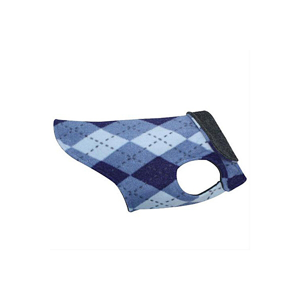Whistler Winter Wear Dog Jacket - Blue Argyle