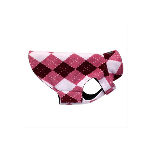 Whistler Winter Wear Dog Jacket - Pink Argyle