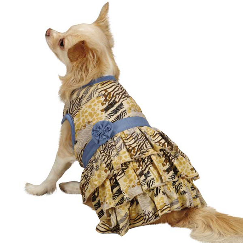 Wild Savannah Tiered Dog Dress