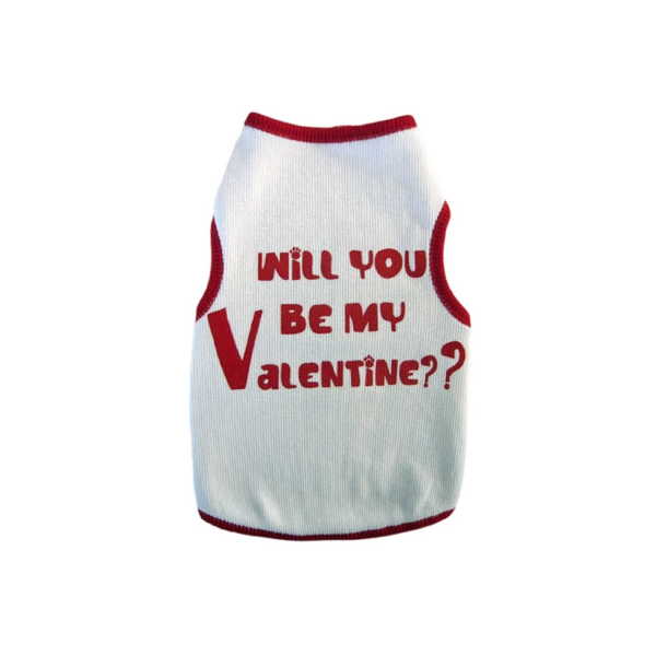 Will You Be My Valentine Dog Tank