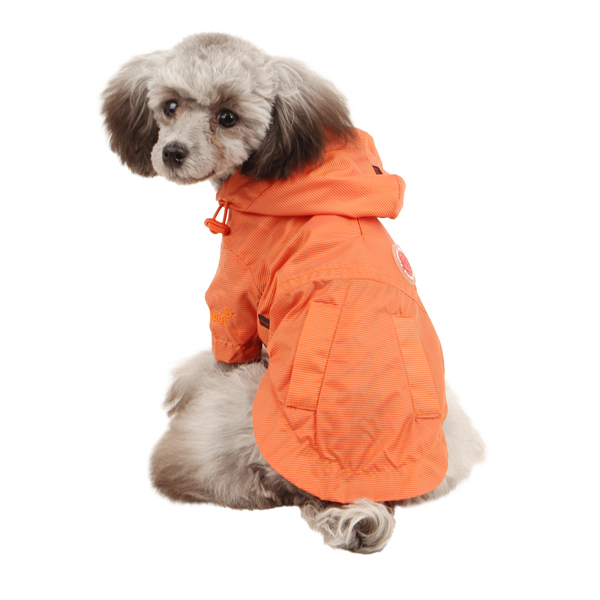 Wind Breaker Dog Raincoat by Puppia - Orange