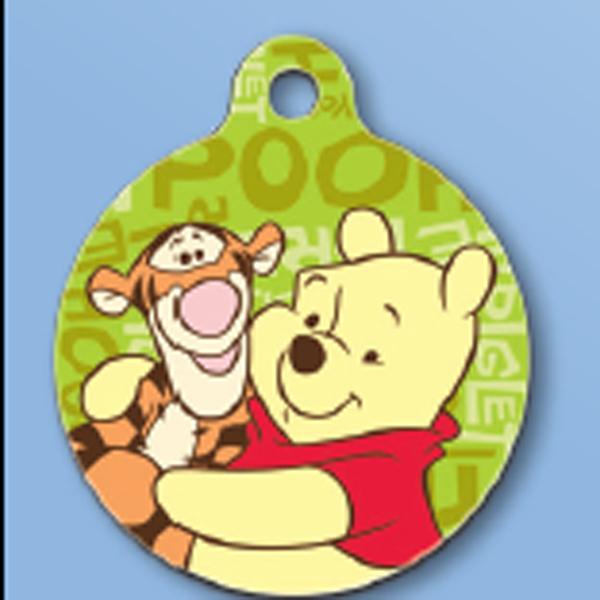 Winnie the Pooh QR Code Pet ID Tag
