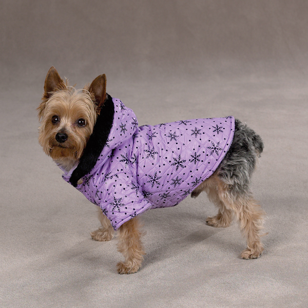 Winter Wonderland Dog Coat - Purple