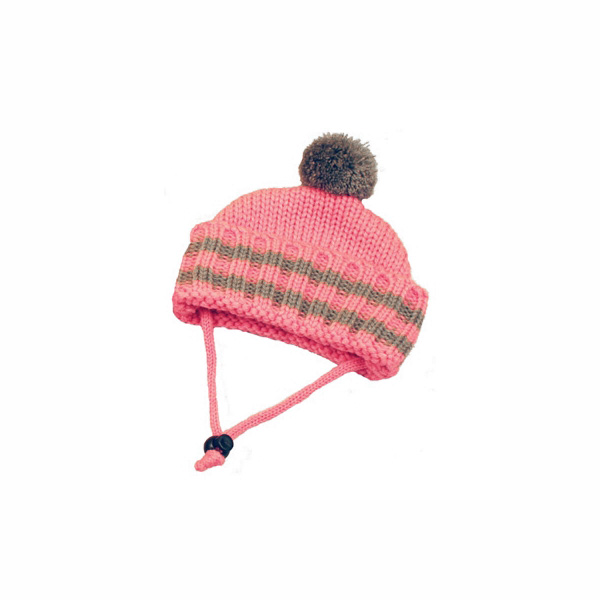 Worthy Dog Ribbed Winter Dog Hat - Pink