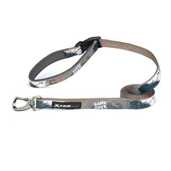 X-Treme Game Over Dog Leash - Gray