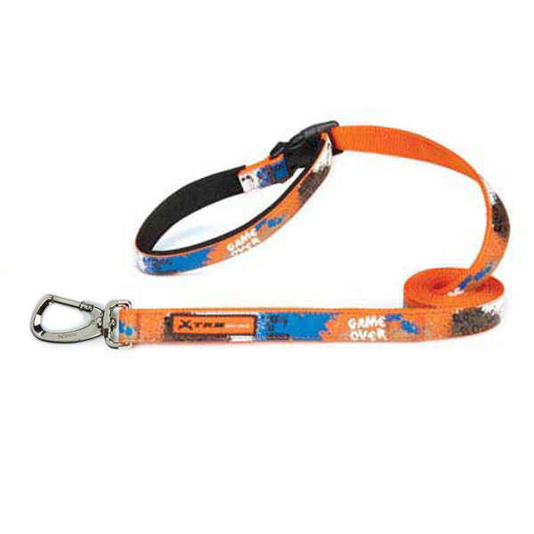 X-Treme Game Over Dog Leash - Orange