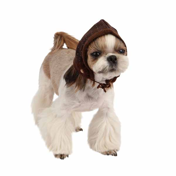 Yuppie Dog Hat by Puppia - Brown