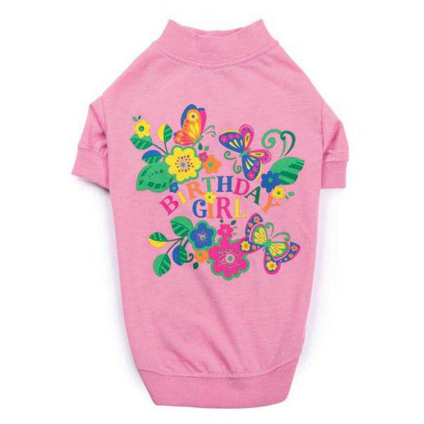 Zack & Zoey Spring Garden Birthday Girl Dog T-Shirt