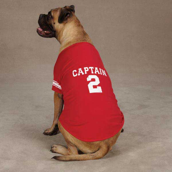 Americana Jersey Dog T-Shirt - Red Captain