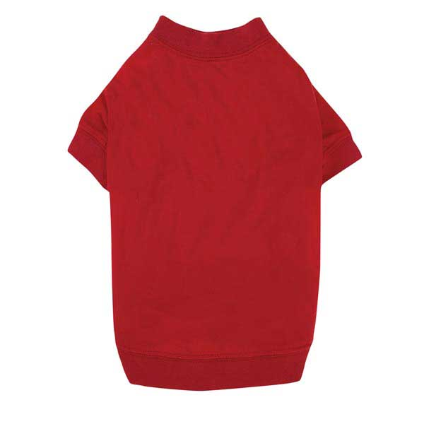 Zack & Zoey Basic Dog T-Shirt - Tomato Red