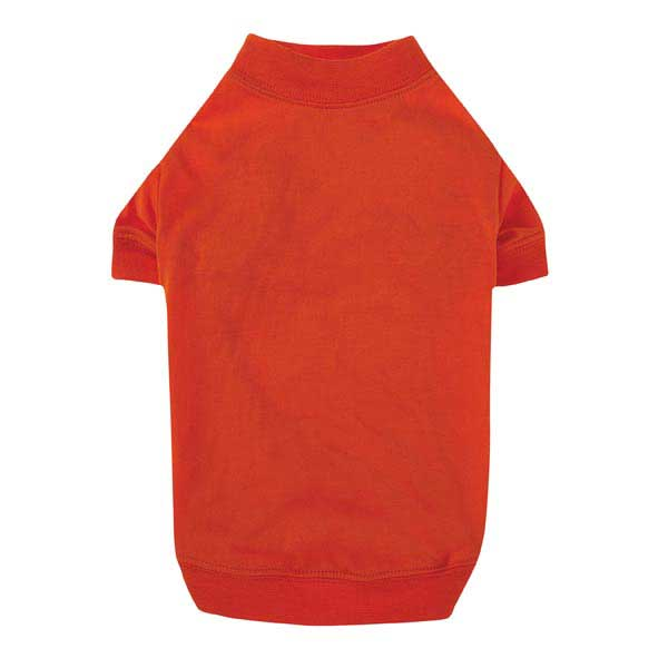 Zack & Zoey Basic Dog T-shirt - Vibrant Orange