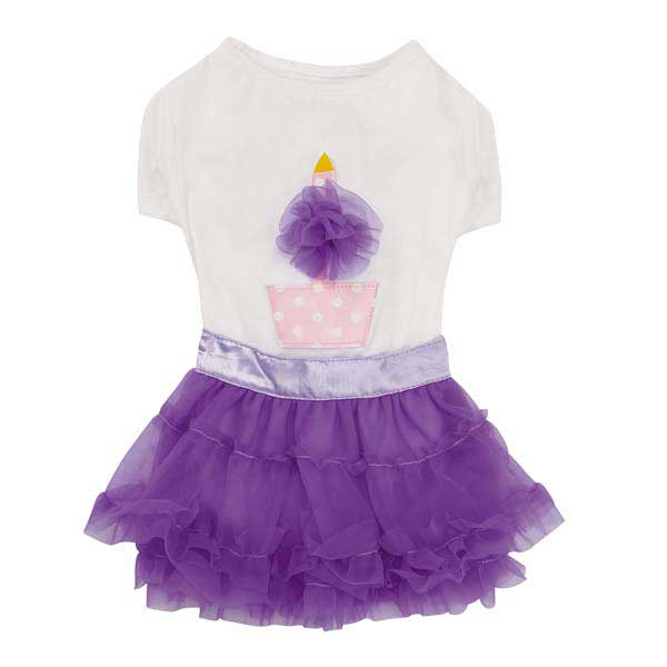Zack & Zoey Chiffon Cupcake Dog T-Shirt and Skirt Set