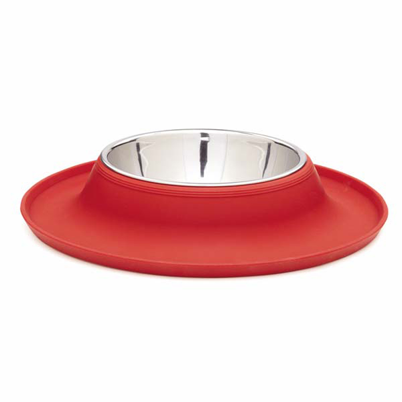 Crave Silicone Dog Bowl - Tomato