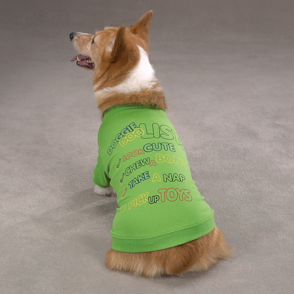 Zack & Zoey Doggie Doo List Dog T-Shirt