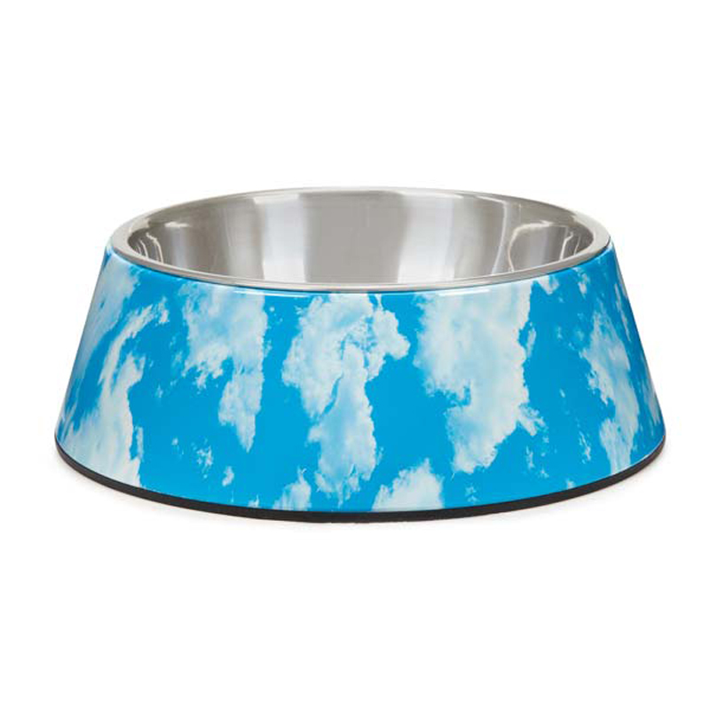Elements Melamine Dog Bowl - Sky