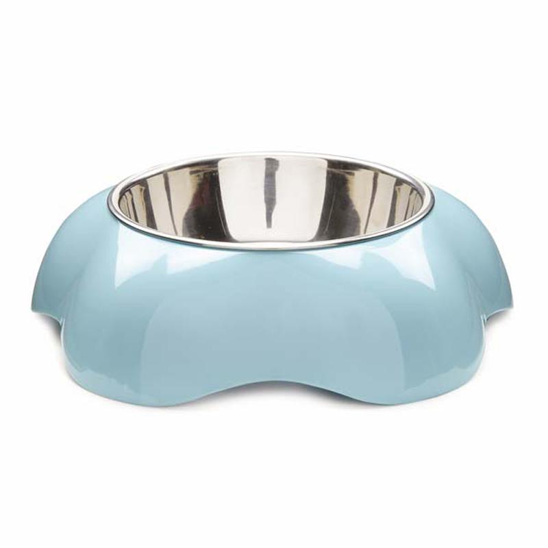 Fleur Melamine Dog Bowl - Aqua