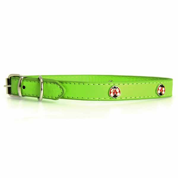 Zack & Zoey Flutter Bugs Charm Dog Collar - Lady Bug