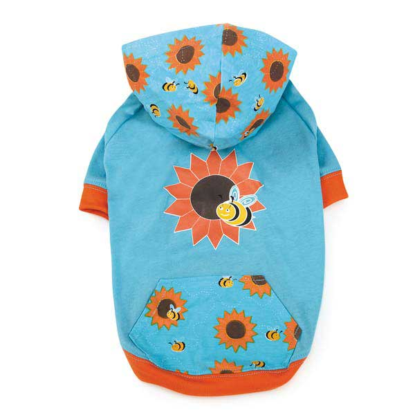 Zack & Zoey Flutter Bugs Dog Pullover - Bumble Bee