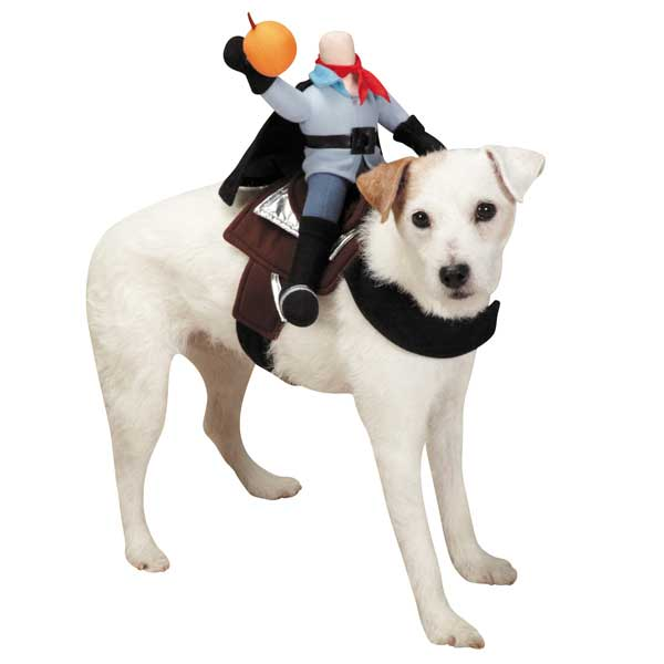 Saddle Headless Horsemen Dog Costume