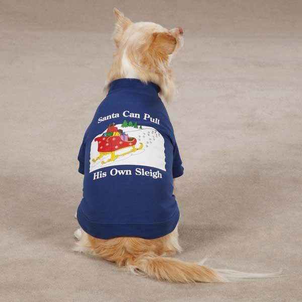 Zack & Zoey Santa's Sleigh Dog T-Shirt