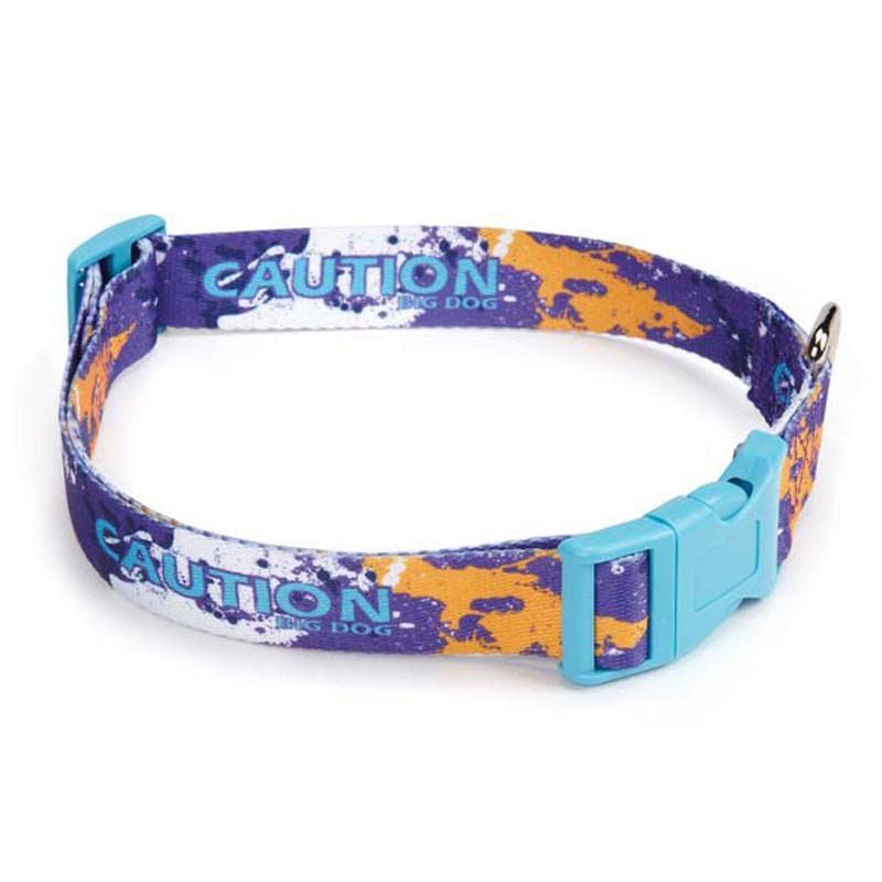 Splatter Charged Dog Collar - Purple