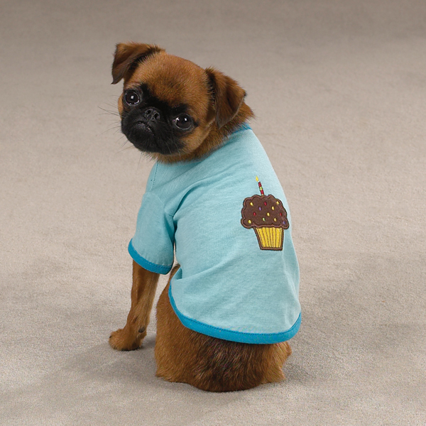 Zack & Zoey Sweet Treats Dog T-Shirt - Cupcake