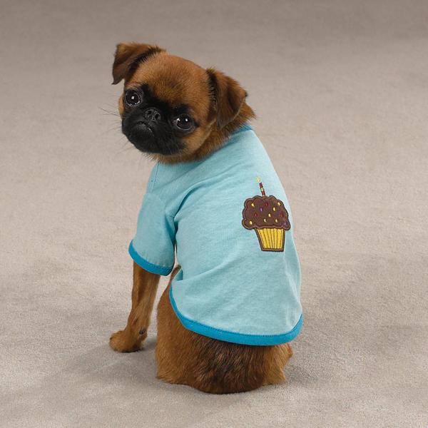 Zack & Zoey Sweet Treats Dog T-Shirt - Cupcake