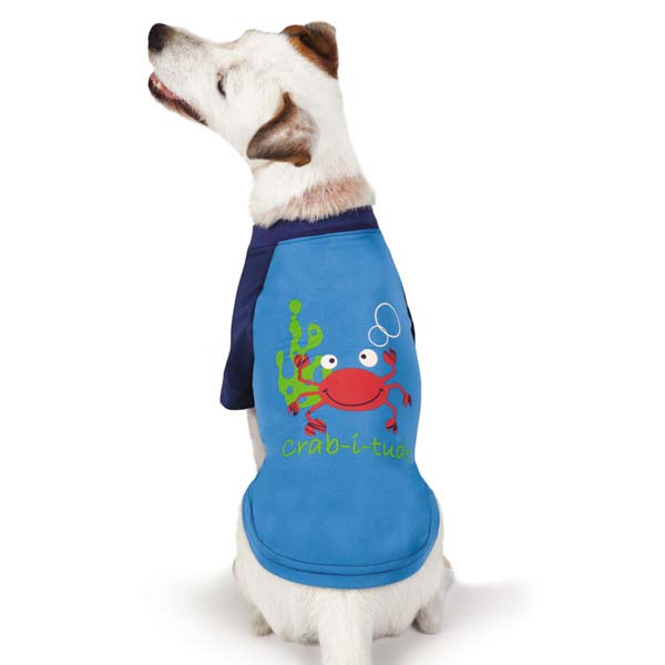 Zack and Zoey Under the Sea SPF40 Crab Dog T-Shirt