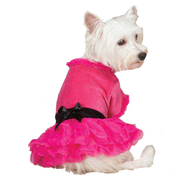 Vibrant Party Dog Dress - Raspberry