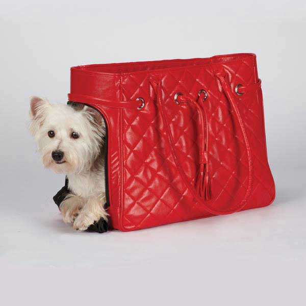 Zack & Zoey Vineyard Quilted Pet Carriers - Red