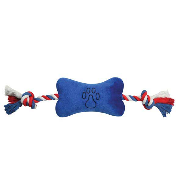 Zanies Americana Bone Tugger Dog Toy - Blue