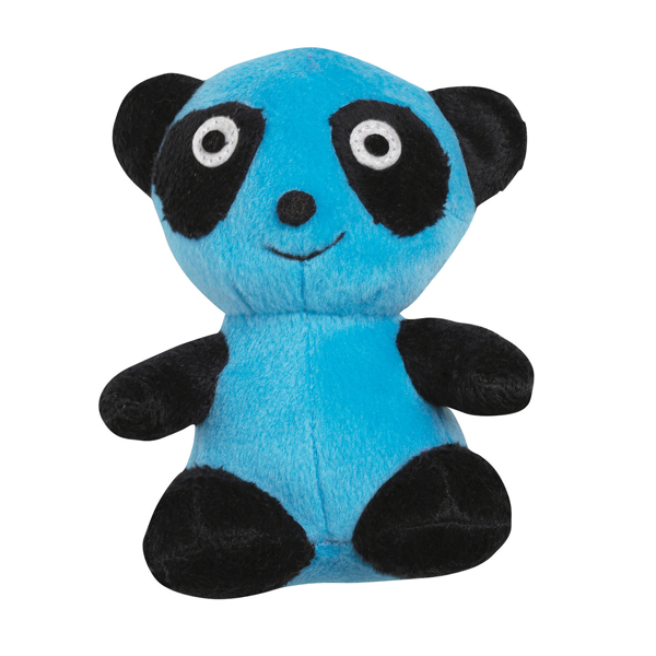 Zanies Band O' Pandas Dog Toy - Blue