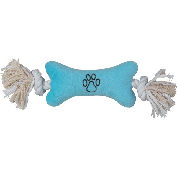 Zanies Bone Tugger Toy - Blue
