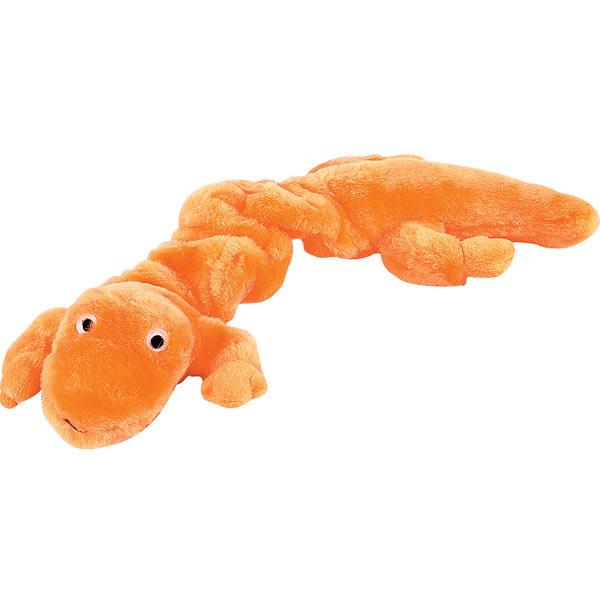 Zanies Bungee Geckos Dog Toy - Orange