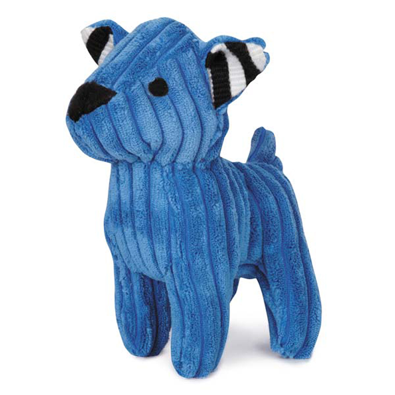 Zanies Corduroy Cuties Dog Toy - Blue