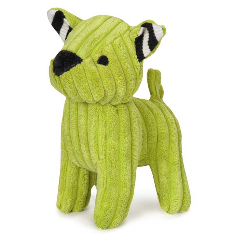 Zanies Corduroy Cuties Dog Toy - Green