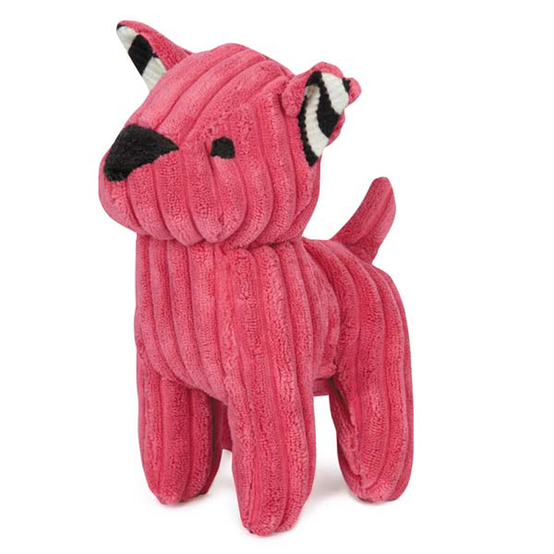 Zanies Corduroy Cuties Dog Toy - Pink