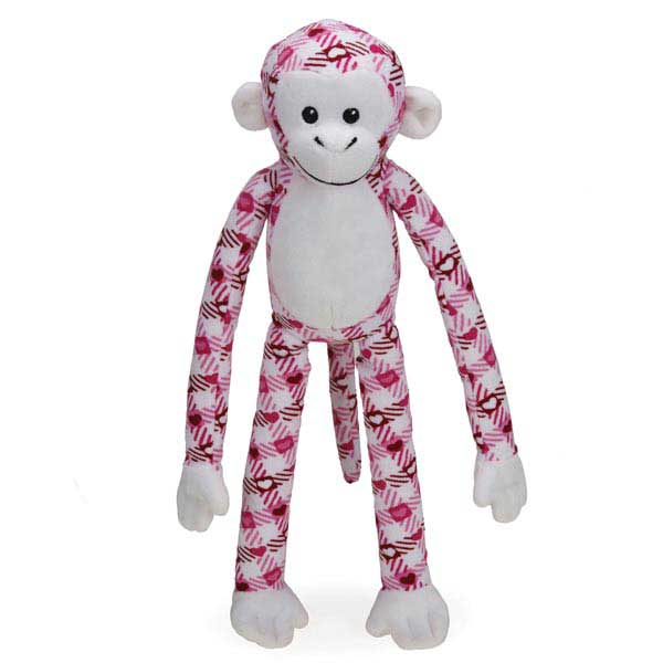 Zanies Cuddle Monkeys Dog Toy - Plaid