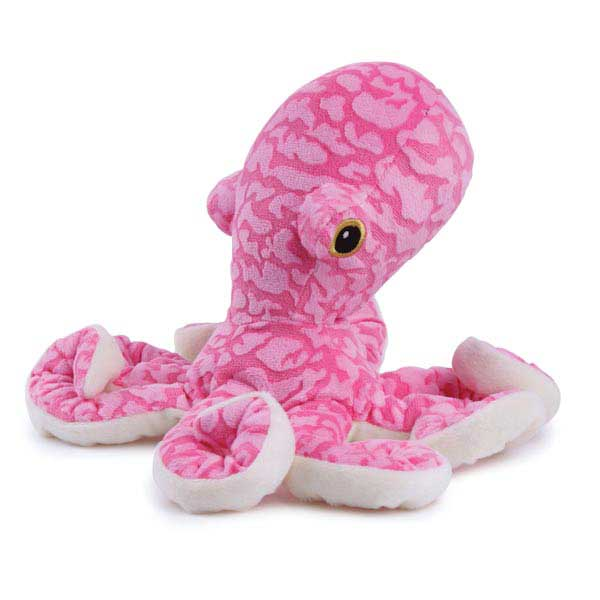 Zanies Curly Octopus Dog Toy - Pink