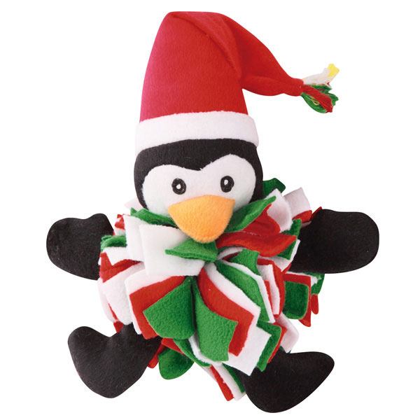 Zanies Festive Fleece Friend Dog Toy - Penguin