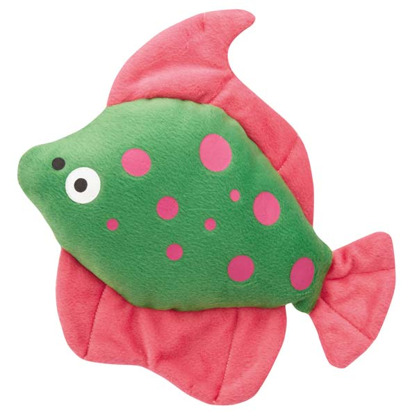 Zanies Funky Flounder Dog Toy - Green
